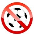 Sign prohibiting a football vector