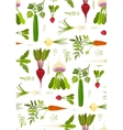 Leafy vegetables and greens seamless pattern vector