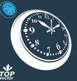 3d round wall clock with black dial includes vector