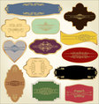 Pastel vintage labels vector