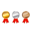 Golden silver bronze awards vector