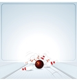 Bowling strike ball vector
