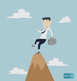 Businessman risk on top vector