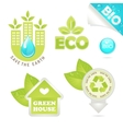 Set eco and bio icons vector