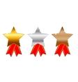 Golden silver bronze awards vector