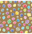 Colorful dogs foot prints vector
