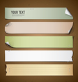 Vintage paper long collections design vector