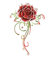 Rose flower love vector
