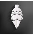 Snowboarder icon vector