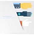 Business hands gestures design elements isolated vector
