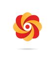Segmented o letter - flower concept vector