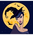 Beautiful witch halloween vector