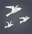 Paper origami birds vector