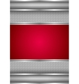 Background template metallic texture red blank vector