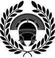 Roman helmet stencil third variant vector