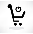 3d of shopping chart icon vector