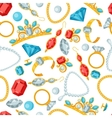 Seamless pattern with beautiful jewelry and vector
