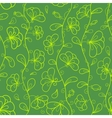 Floral seamless pattern in green and yellow colors vector