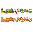 Word learning - letters made of toys vector