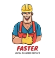 Plumber service vector