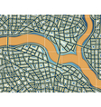 Streets and river vector