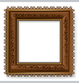 Retro vintage wooden frame vector