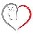 Dog heart vector