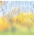 Bent birch branches on a cloudy autumn day eps 8 vector