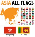 Asia all flags vector