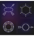 Hipster elements background vector