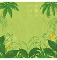 Tropical floral background vector