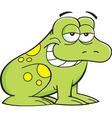 Cartoon smiling frog vector