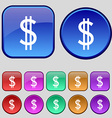 Dollars sign icon usd currency symbol money label vector