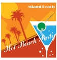 Beach party poster vector