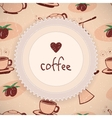 Love coffee background vector