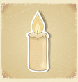 Vintage postcard with a picture candles vector
