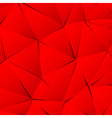 Abstract red paper triangle background vector