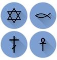 A small set of religious symbols vector