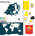 Vatican city map vector