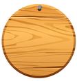 Circle wood frame vector