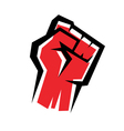 Fist stylized icon revolution concept vector
