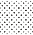 Black grey polka dots tile white background vector