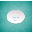 Paper circle banner with drop shadows vector