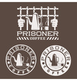 Prisoner coffee concept design template vector