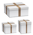 White shipping boxes vector