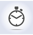 Abstract chronometer icon gray color vector