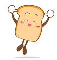 Bread 12 isolated happy smile jumping slice of vector
