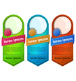 Abstract web banner with button vector