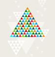 Abstract geometric christmas tree vector