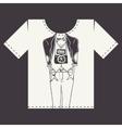 T shirt print design vector
